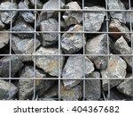steel mesh of gabion wall.grey... | Shutterstock . vector #404367682