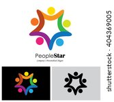 children vector logo icon in... | Shutterstock .eps vector #404369005
