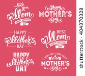 mothers day lettering... | Shutterstock .eps vector #404370328