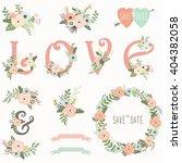 floral wedding invitation...   Shutterstock .eps vector #404382058