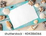 marine summer postcard.... | Shutterstock . vector #404386066