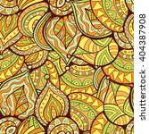 boho abstract leaves doodle... | Shutterstock . vector #404387908