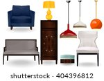 furniture icons.lamps ... | Shutterstock .eps vector #404396812