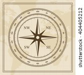 vector wind rose on a world map ... | Shutterstock .eps vector #404405212