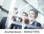business people team meeting in ... | Shutterstock . vector #404427592