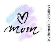 Greeting Card 'i Love You Mom'...