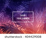 tropical sunset background ... | Shutterstock .eps vector #404429008