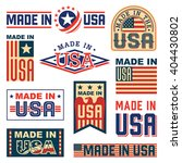 made in america  usa    set of... | Shutterstock .eps vector #404430802