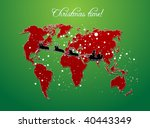 christmas map vector background | Shutterstock .eps vector #40443349
