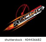 racing concept for logo design... | Shutterstock .eps vector #404436682