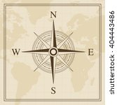 vector wind rose on a world map ... | Shutterstock .eps vector #404443486