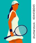 tennis. art poster. vector... | Shutterstock .eps vector #404458045