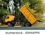 dump body truck in work