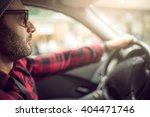 handsome man driving luxury car ...   Shutterstock . vector #404471746