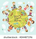 planet of children. vector...   Shutterstock .eps vector #404487196