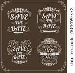 set of vector save the date... | Shutterstock .eps vector #404490772