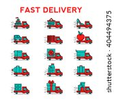 delivery service icons. vector...