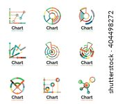 thin line chart logo set. graph ...