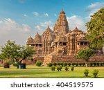 famous indian madhya pradesh...   Shutterstock . vector #404519575