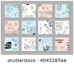 set of artistic creative... | Shutterstock .eps vector #404528566