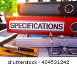 red office folder with... | Shutterstock . vector #404531242