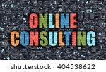 online consulting. multicolor... | Shutterstock . vector #404538622