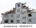 partially destroyed building | Shutterstock . vector #404541472