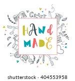 handmade  crafts workshop  art... | Shutterstock .eps vector #404553958