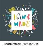 handmade  crafts workshop  art... | Shutterstock .eps vector #404554045