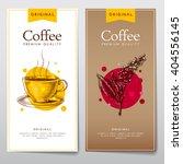 vector set of menus for coffee. ... | Shutterstock .eps vector #404556145