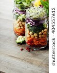healthy homemade mason jar...   Shutterstock . vector #404557612