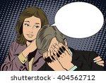 people in retro style pop art... | Shutterstock .eps vector #404562712