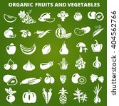 set of organic vegetables and... | Shutterstock . vector #404562766