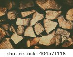 Stacked Firewood. Background O...