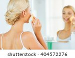 beauty  skin care and people... | Shutterstock . vector #404572276