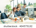 group of young people employee... | Shutterstock . vector #404575132