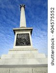 Small photo of Great Britain, London, Admiral Nelson column on Trafalgar square