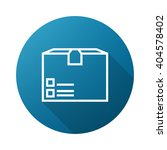 package outline icon white on...