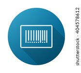 barcode outline icon white on...