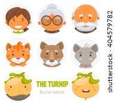 the turnip. russian folktale.... | Shutterstock .eps vector #404579782
