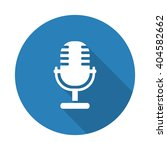 flat white microphone web icon... | Shutterstock .eps vector #404582662