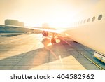 airplane at terminal gate ready ... | Shutterstock . vector #404582962