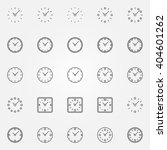 clock icons set   vector linear ...