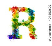 color paint splashes. gradient... | Shutterstock .eps vector #404603602