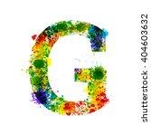 color paint splashes. gradient... | Shutterstock .eps vector #404603632