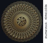 mandala gold  fine carved.... | Shutterstock .eps vector #404611036