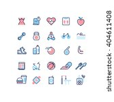 fitness and sport line icons...   Shutterstock .eps vector #404611408