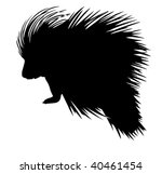 vector silhouette of the... | Shutterstock .eps vector #40461454