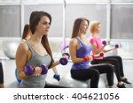 group of fit people at the gym... | Shutterstock . vector #404621056