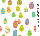 pattern of easter eggs | Shutterstock .eps vector #404621182
